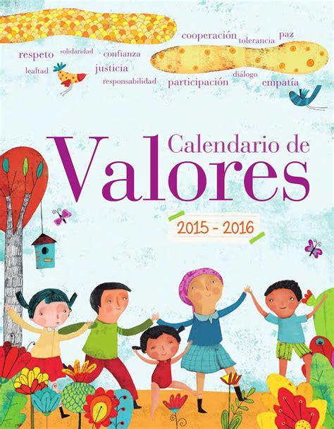 libro valores ticos 2 calendario de valores 2015 2016 by gabriel vital rom 225 n issuu