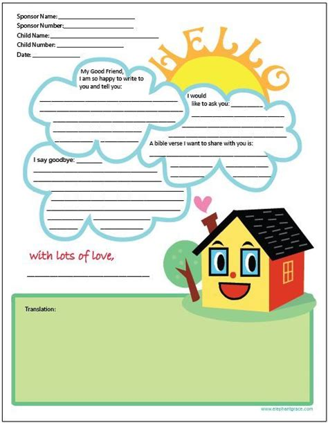 compassion letter templates letter writing template