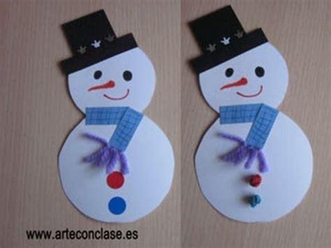como hacer un snowman de fomi arte con clase navidad mu 241 eco de nieve youtube
