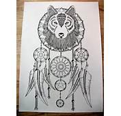 Dream Catcher Wolf Tattoo Designs Car Tuning