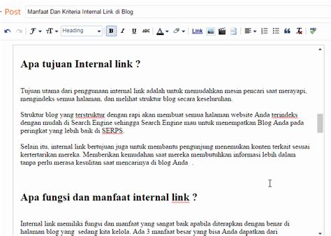 membuat link blogspot manfaat kriteria dan cara membuat internal link di blog