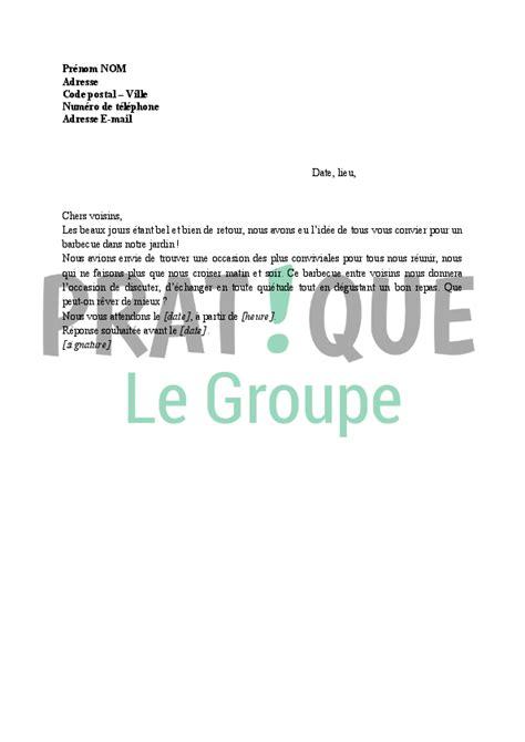 Modèle De Lettre D Invitation à Un Barbecue Invitation Pour Un Barbecue Entre Voisins Pratique Fr