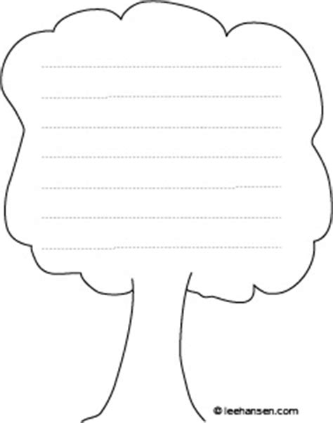 tree writing paper tree shape paper with lines for writing