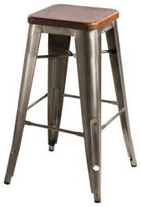 Rustic Wood Bar Stools Hooligan Bar Stool Steel Rustic Wood Industrial Bar