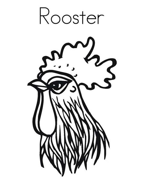 Rooster Head Coloring Page | rooster head coloring page coloring sky