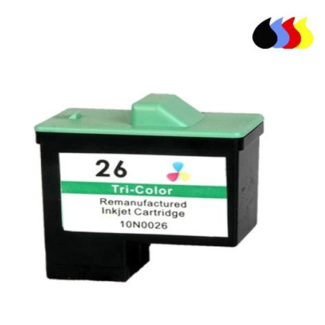 Tinta Printer Lexmark Z515 10n0026 cartucho reciclado lexmark color n 26 3x5 ml