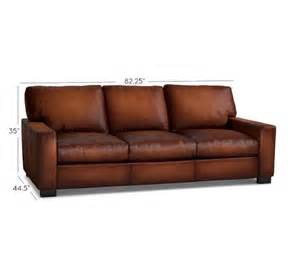 Furniture Leather Sleeper Sofa Turner Square Arm Leather Sleeper Sofa Pottery Barn