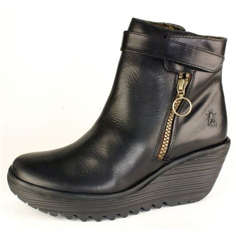 fly yava s black boots free delivery at shoes co uk