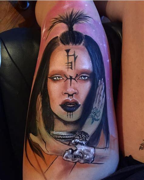 rihanna tattoo fail this tattoo artist makes portraits of rihanna using the