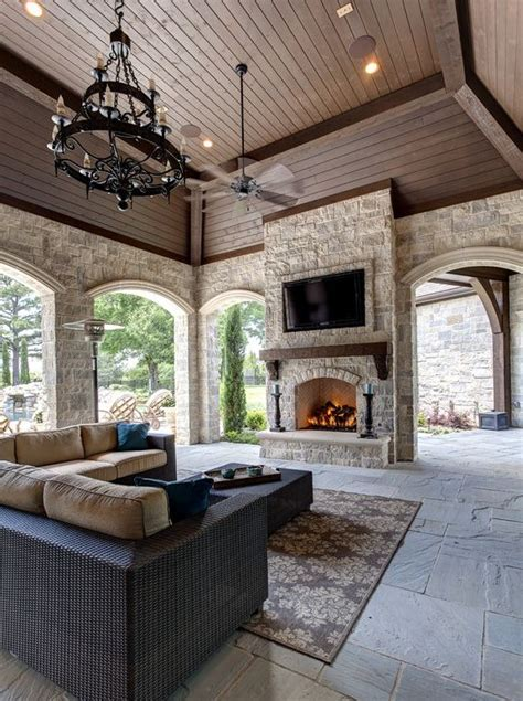 Hearth And Patio Mississauga The Fireplace Is Perfectly Located On This Covered Patio