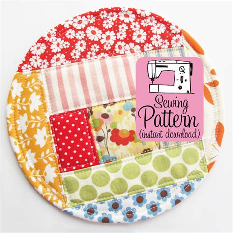 pattern fabric coasters patchwork coasters pdf sewing pattern drink coaster