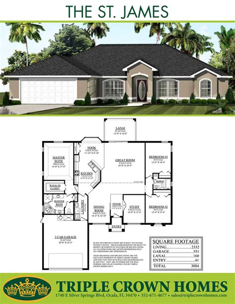 crown homes floor plans the st james triple crown homes gt gt 19 great crown homes