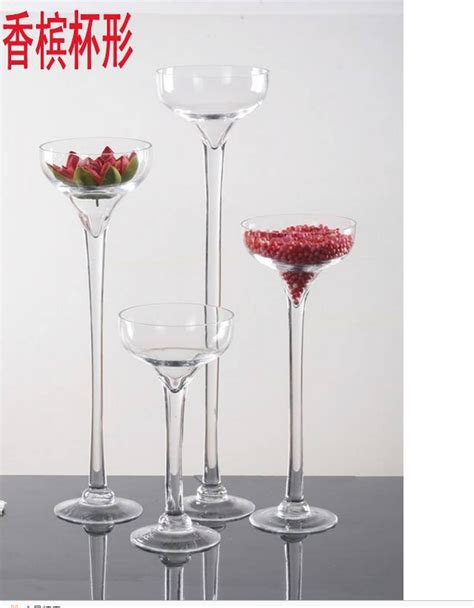 Wine Glass Vases by Wine Chagne Glass Vase With Stem For Home