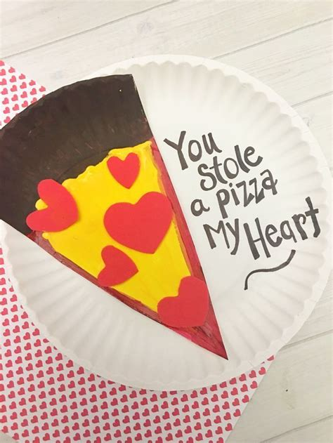 S Day Paper Crafts - s day pizza paper plate craft for tutorial