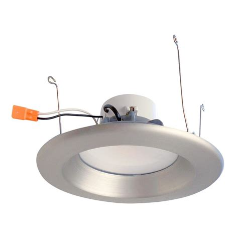 Led Recessed Ceiling Light Envirolite 6 In Recessed Led Ceiling Light With Brushed Nickel Trim Ring 5000k 93 Cri