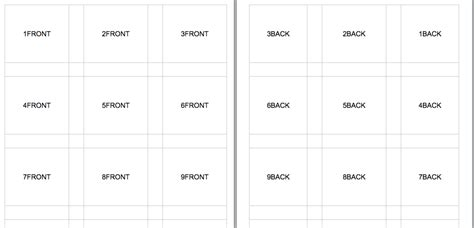 Free Front And Back Flash Card Template by Excel Flashcards Template Teaching