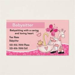 babysitting business cards free templates babysitting business cards zazzle