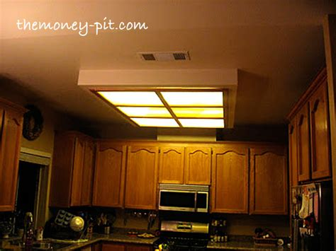 fluorescent kitchen light box makeover remodeling on a updating a fluorescent box light with led lighting
