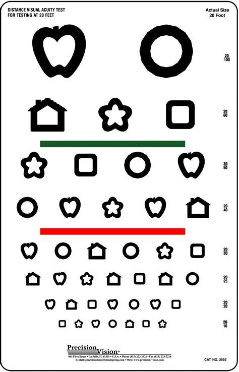 printable children s vision chart printable colour vision test printable snellen eye test