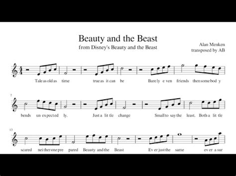 beauty and the beast music download mp3 alto sax