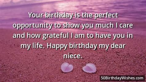 Happy Birthday Wishes Dear Niece Your Birthday Is The Perfect Opportunity To Show You Much