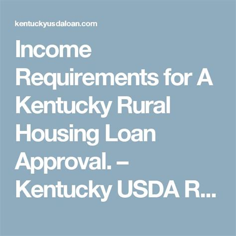 rural housing loan income requirements 1000 images about kentucky usda rural housing mortgage homes and loans on pinterest