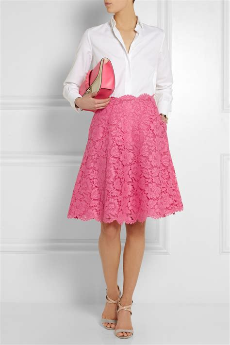 Gfa 21 Lace Valentino Classic Shoes 1 valentino lace skirt in pink lyst