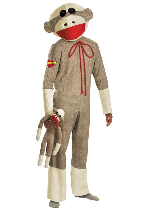 costume for adults sock monkey costume