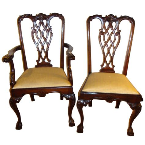 Chippendale Style Dining Chairs Set Of Eight Chippendale Style Dining Chairs For Sale At 1stdibs