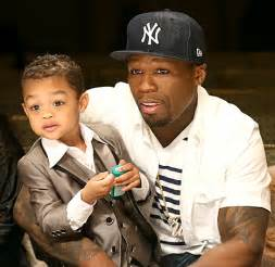 good dad? 50 cent resumes posting photos of his son