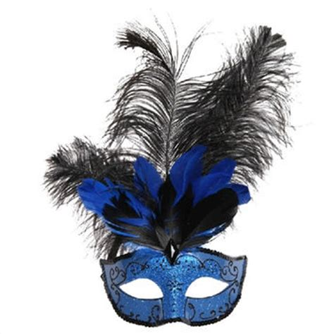 feather masquerade mask in light blue from the crafty chemist07