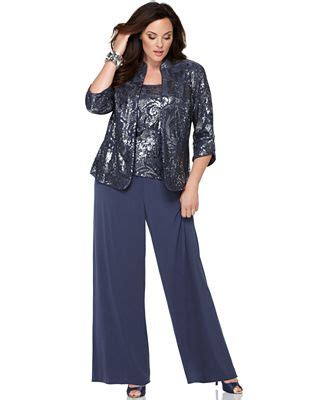 Alex Evenings Plus Size Dress Suit, Three Piece Sequin