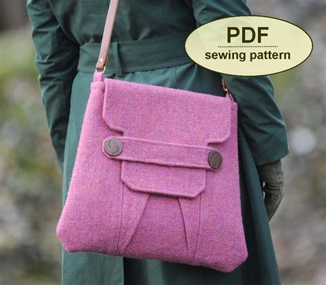 pattern download sewing sewing pattern to make the polstead heath messenger bag