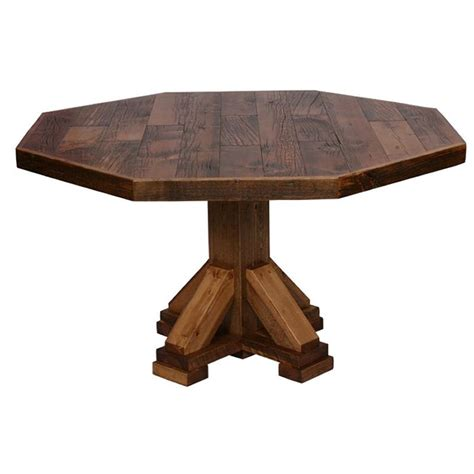 Octagon Dining Table Weathered Timber Octagon Dining Table Nc Rustic