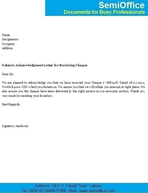 Acknowledgement Letter For Customer Service Payment Received Letter Anuvrat Info