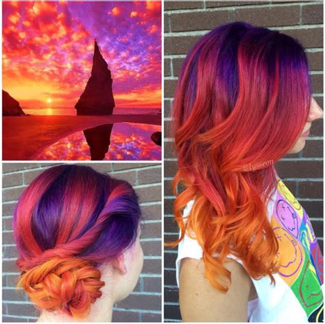 sunset hair color photos sunset hair color trend