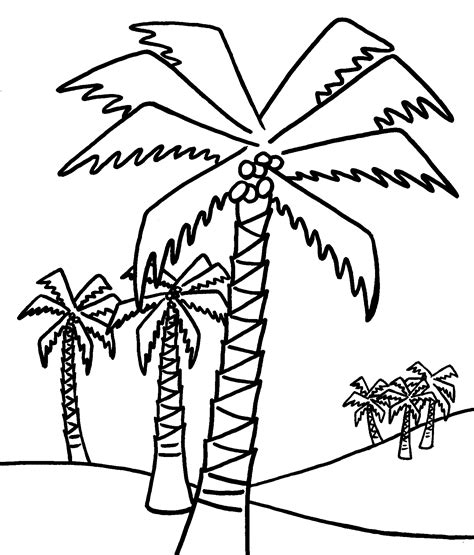 Coloring Page Palm Tree Palm Tree Coloring Page