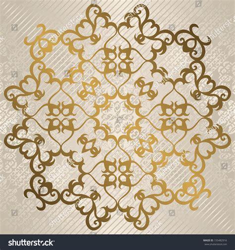 vintage elegant pattern elegant round vintage pattern in gold light background