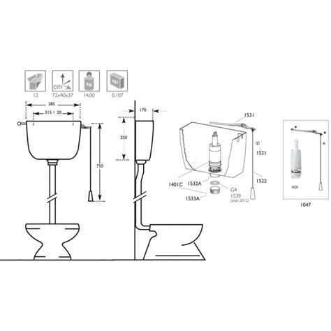 cassetta wc esterna alta cassetta wc esterna di scarico alta con catenella in abs