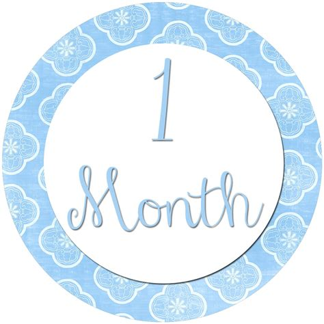 printable month stickers for babies all four love diy month to month stickers