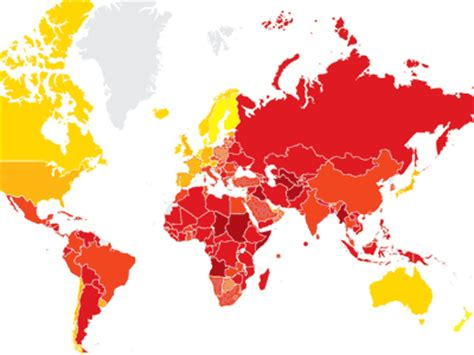 most corrupt countries in the world map these are the most corrupt countries in europe business