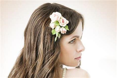 fresh flower hair pieces