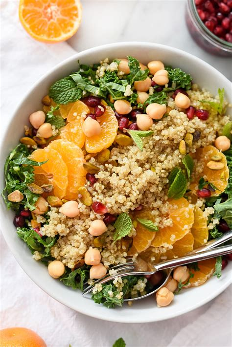 protein quinoa quinoa and kale protein power salad foodiecrush