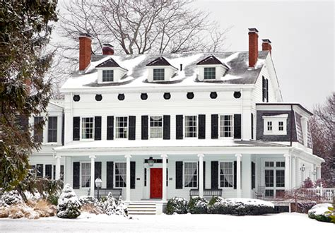 white house black shutters red door white house black shutters red door our house isn t this grand by a long shot but i