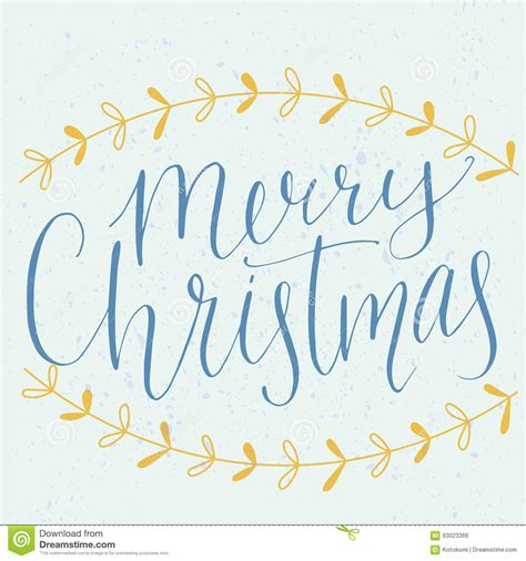 merry christmas type modern calligraphy made with stock