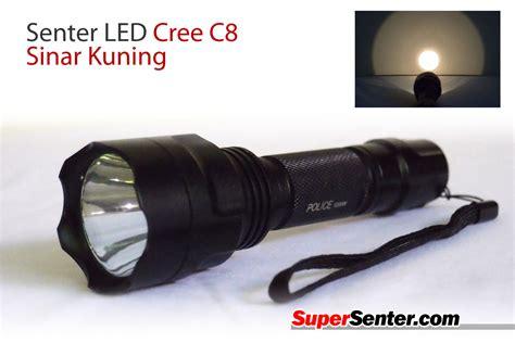 Senter Flashlight C8 Cree Q5 Fokus 5 Mode Nyala Cahaya Si senter led cree c8 sinar kuning senter