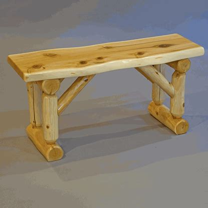 white cedar log bench wildwood rustics white cedar log bench