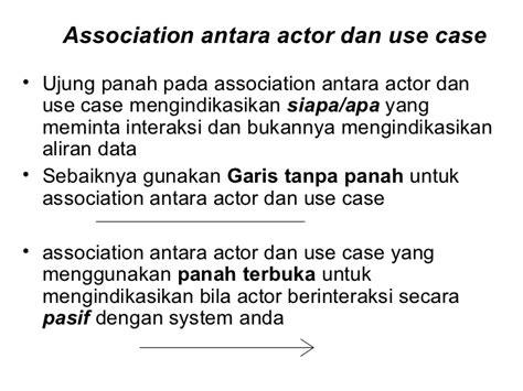 actor biasanya menggunakan kata use case diagram