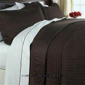 400tc hotel brown chocolate coverlet quilt set f