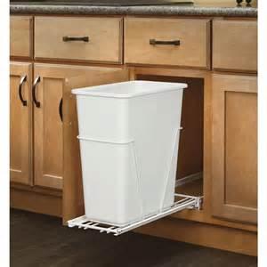 shop rev a shelf 30 quart plastic pull out trash can at
